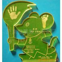 婴儿胎毛笔手足印纪念品有机玻璃制品激光雕刻机