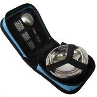 户外野营餐具套装 不锈钢便携折叠筷子勺子碗野餐包烧烤用品饭盒