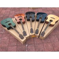 厂家批发价,手工琴,单板民谣吉他,尺寸有40和41寸,工艺有亮光款和哑光款。