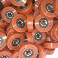 包聚氨酯轴承滚轮 轴承包胶轮 包胶轴承厂家 包胶滚轮定制