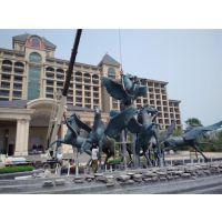 广东小区飞马雕塑,铜马雕塑制作,群马雕塑厂家