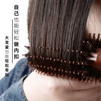 加大号猪鬃毛梳子卷发梳内扣梨花直发圆筒滚梳子理发店专业造型梳