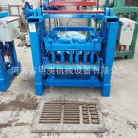 米石矿渣砌块砖机厂家销售4-35空心砌块砖机 保温块路沿石砌块机