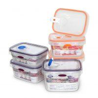 【香港品牌】透明排气保鲜盒饭盒 冰箱保鲜食品储存盒 创意便当盒餐盒定制厂家直销