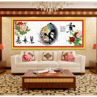 QQ家和万事兴十字绣万家版 印花新款十字绣大幅客厅风景2米丝线