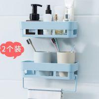 简约卫生间塑料收纳墙上出租屋神器挂墙洗漱台厨房壁式置物架悬挂