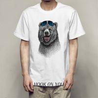 墨镜熊 Sunglasses bear可爱印花潮流Tee男女休闲时尚百搭T恤衫热