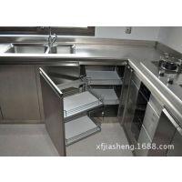 厂家直销 不锈钢整体橱柜 不锈钢定尺水槽柜平台柜 不锈钢异形柜