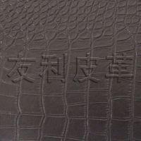 新款皮革 pvc环保人造革、高档装饰软包革  PU鳄鱼纹箱包革