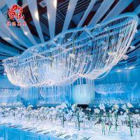 婚礼场地布置装饰仿水晶珠帘6-10mm透明亚克力珠链婚庆道具批发