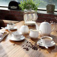 小奢华咖啡杯简约套装英式下午茶茶具乔迁新居礼品实用高档骨瓷咖啡具