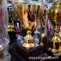定做金属工艺品奖杯冠军奖杯荣誉奖杯水晶奖杯耳朵杯