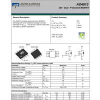 AO4813万代/AO4813MOS管AO4813-AOS美国万代半导体公司代理商泰德兰