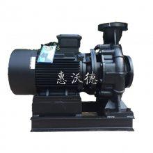 四级电机超静音卧式空调循环泵 KTX125-100-200泵 7.5KW WUODOR沃德离心泵