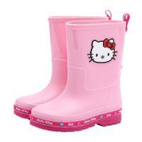 HelloKitty新款儿童雨靴女童防滑宝宝中大童水鞋时尚卡通儿童雨鞋