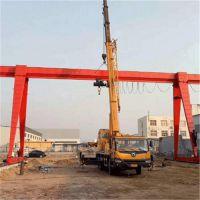 厂家直销5吨电动葫芦门式起重机性能稳定包厢单梁龙门吊浩鑫机械