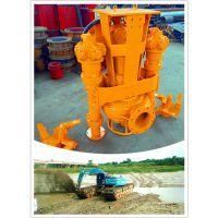 装在挖掘机上的鲲升液压抽沙泵视频