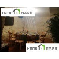 上海韩尔现代品牌 杭州海鲜自助餐厅桌椅定做