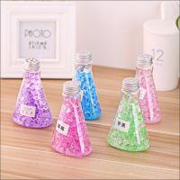 创意三角瓶多款彩色水晶芳香剂海洋宝宝水晶香珠空气清新剂除臭