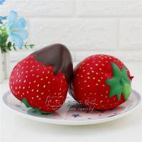 新款squishy 仿真10cm巧克力草莓慢回弹 pu仿真食玩儿童减压玩具