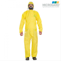 供应微护佳2300化学防护服 连体带帽防水防化服 耐酸碱喷漆防护服