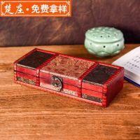 高档檀木梳包装盒定做 创意牛角梳礼品盒定制 个性木梳礼盒厂家