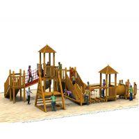 木质滑梯设计、儿童攀爬架、幼儿园户外黄花梨拓展、爬网感统训练组合