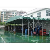 合肥三防布推拉棚移动帐篷定做伸缩式遮阳雨蓬阻燃布挡雨棚子