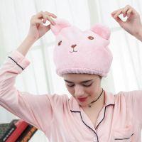 动物卡通干发帽超强头发速干包头巾 可爱成人加厚吸水浴帽