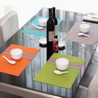 餐桌餐垫PVC防滑隔热欧式PVC餐桌垫双色免洗环保防烫盘碗碟西餐垫