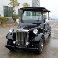 厂家直销AS-008 8人座黑色四轮电动观光车看房车电动老爷车