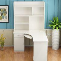 转角书桌书架组合电脑台式桌家用简约经济型儿童书桌电脑桌带书柜