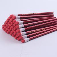 原木铅笔HB大像皮头铅笔  无铅毒小学生红杆卡通大头铅笔