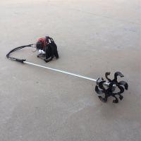 二冲程背负式松土除草机视频/老人轻松使用快速翻土犁地机