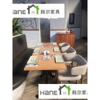 黄埔区自助餐厅桌椅订做 上海韩尔实木现代品牌