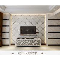 超白玉砂拼镜背景墙 菱形异性金箔金镜茶色金色灰色拼镜 厂家特价
