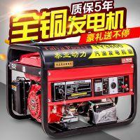 泰亚3kw汽油发电机220V单相380伏三相35/68千瓦小型发电机家用