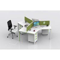 现代实木职员办公桌 简约单人老板桌 4人位办公家具电脑桌办公台