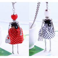 韩版时尚长款可爱女孩娃娃项链   ebay速卖通热卖 厂家直销