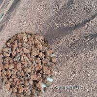 火山石 红色园艺基质铺面3-6mm 规格全厂家现货