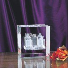 迪士尼乐园模型礼品,三维图像水晶礼品摆件定做,商业楼房建筑内雕纪念品