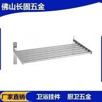 304厨房置物架 不锈钢壁挂不锈钢微波炉层 架搁板支架收纳