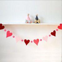九马文具批发 新款 创意爱心形状彩旗 场地布置道具 生日聚会装饰