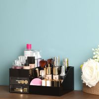 厂家供应亚克力抽屉式化妆品桌面收纳盒工厂直销保质保量