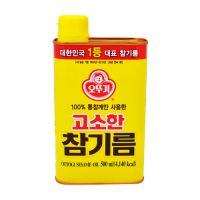 韩国进口不倒翁香油 芝麻油500ml  瓶装食用油