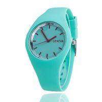 时尚硅胶日内瓦男士手表 硅胶表学生时尚手表女士 手表批发