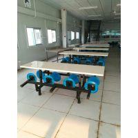 厂家直销深圳8人餐桌 食堂餐桌椅 员工餐桌 玻璃钢餐桌
