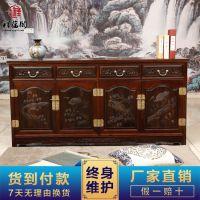 红木家具批发 祥蕴阁红木餐边柜储物柜 老挝大红酸枝餐边柜