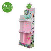 厂家直销 专业定制 三层创意粉红卡通玩具FDU落地展示架 玩偶货架 CDU-083