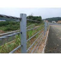 成都缆索护栏、成都景区道路绳索护栏、成都喷塑五索护栏、成都柔性防护栏